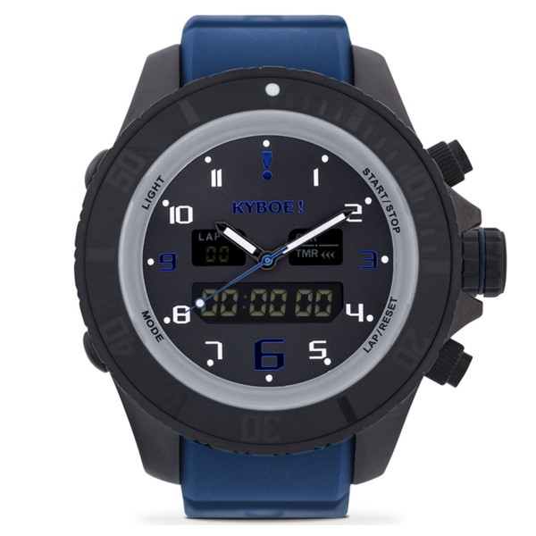 KYBOE-Watch-HYBRID-TWILIGHT-HY-48-001 Blue - HYBRID SERIES