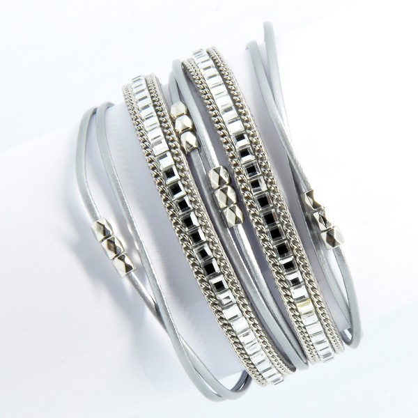 Multilayer-Armband, silber 5