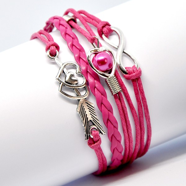 RETRO-MULTILAYER-ARMBAND, PINK 6